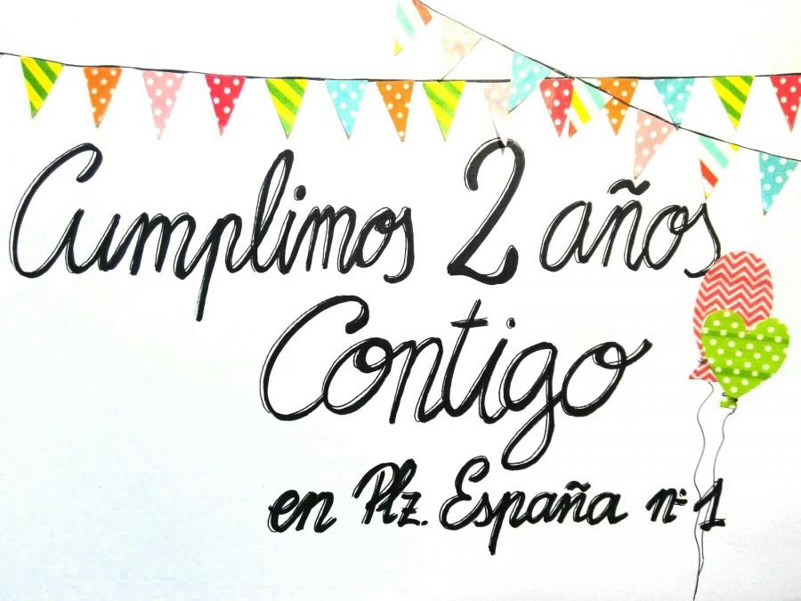 Segundo aniversario en Plaza España