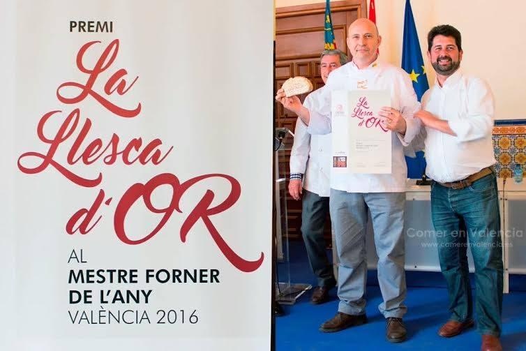 LLESCA D'OR al mejor maestro panadero del año Valencia 2016 para Juanjo Rausell